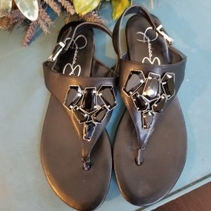 Jessica Simpson Thong Sandals with Bling Bling